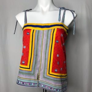 VTG Scarf Tube Top Colorful and Bright King James